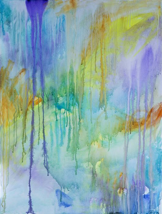 """""""Vitae Field - Melt I"""" by Jacquelyn Stephens. Paintings for Sale. Bluethumb - Online Art Gallery"""
