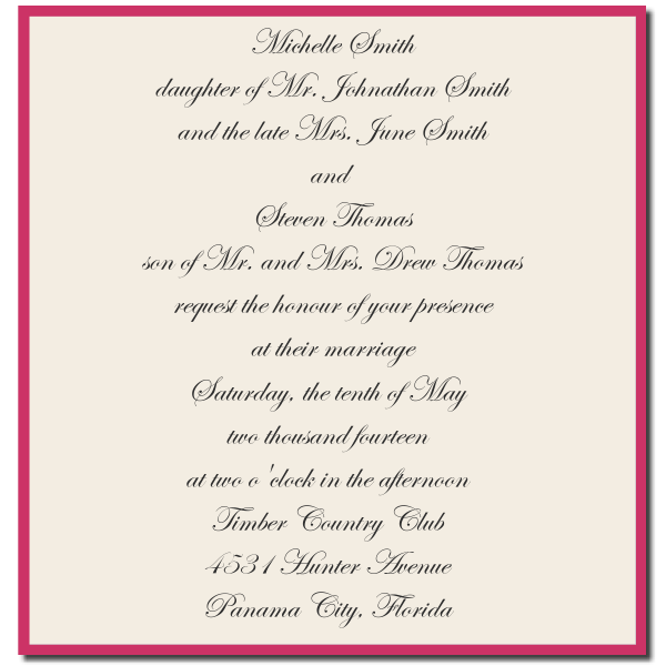 Invitation With One Deceased Parent Wedding Messages Wedding Wording Wedding Invitation Wording