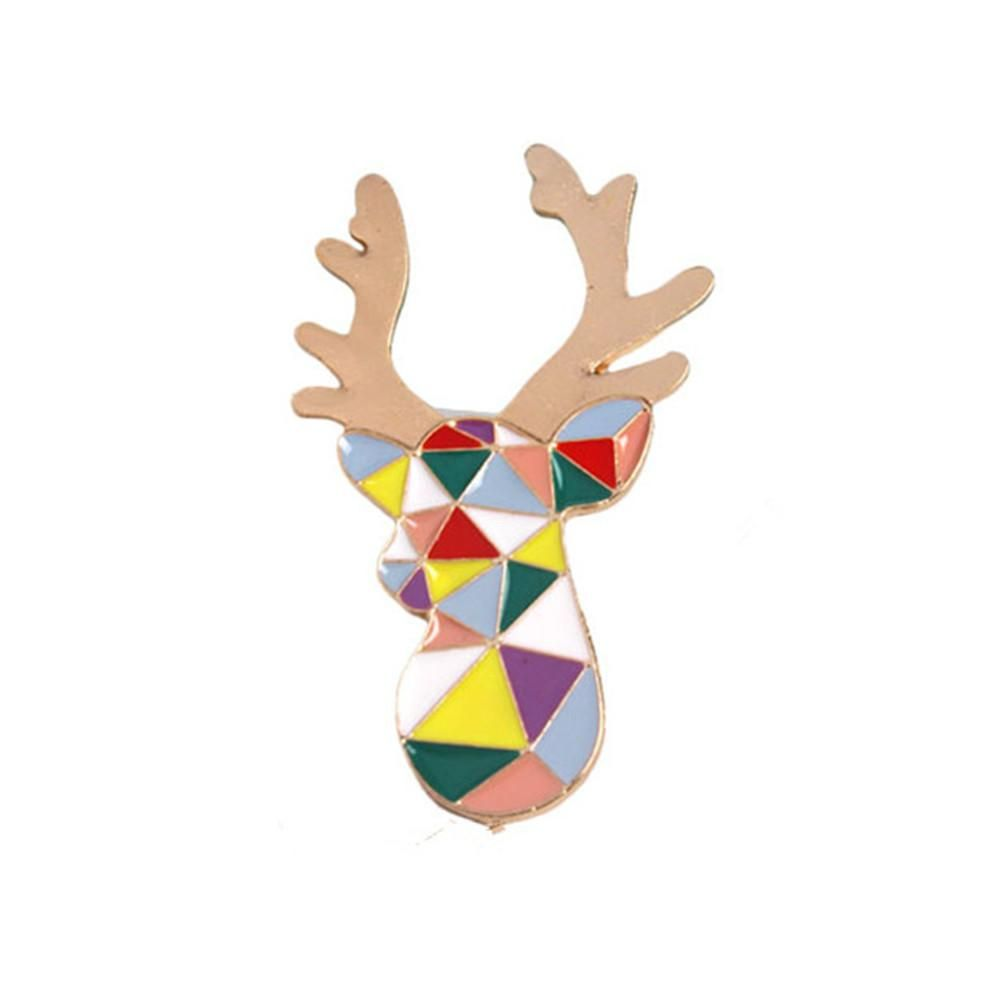Mosaic Style Deer Pin