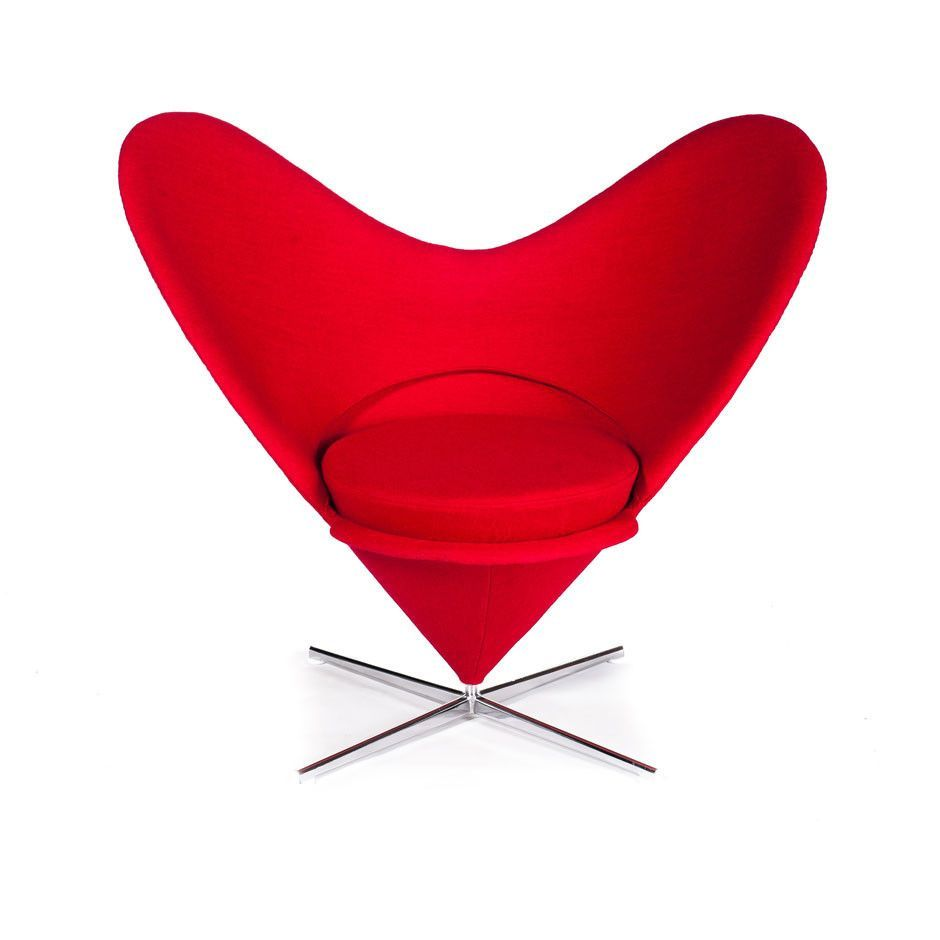 Love chair wool fabric stainless steel and steel