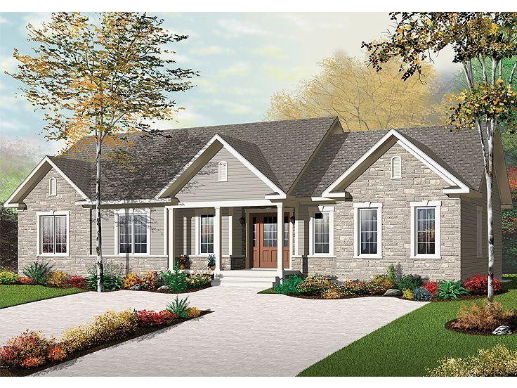 027m 0049 Multi Generational House Plan Has 2 Separate Living Quarters Cottage House Plans Duplex Plans Multigenerational House Plans