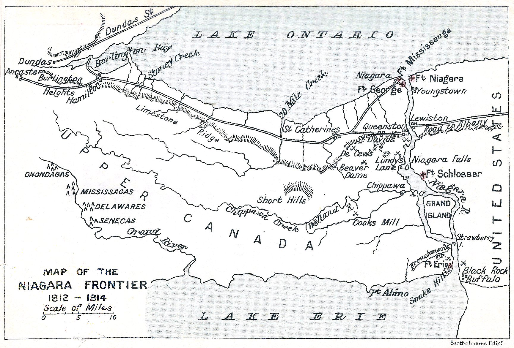 Maps Of War In USA Map Of The Niagara Frontier - Map of us during war of 1812
