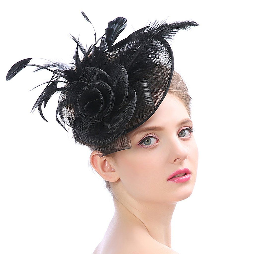 Women's Fascinators Flower Mesh Feathers Hat LM-1950 | Fascinator hats  wedding, Black bird cage, Fascinator
