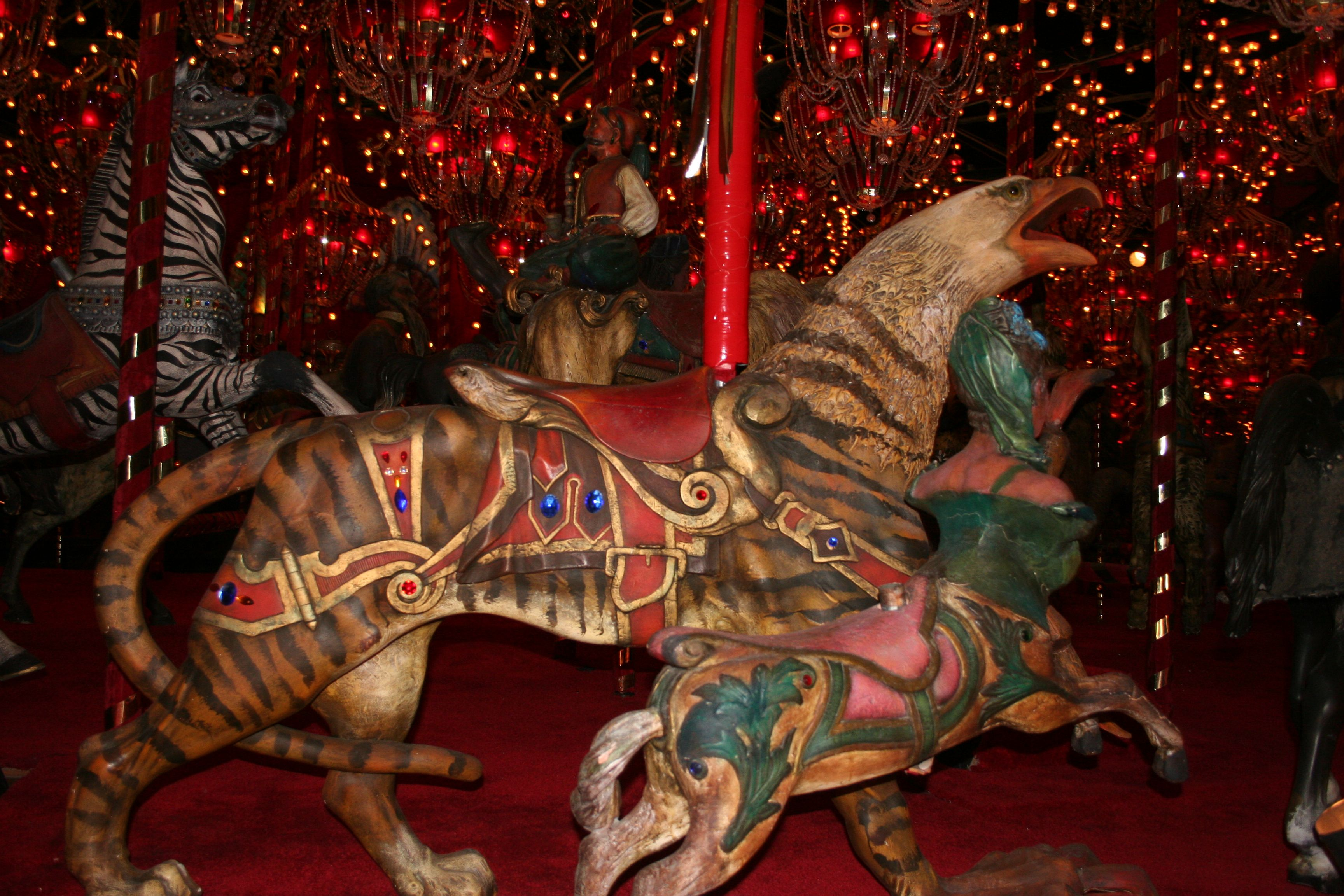 National carousel association denver zoo carousel african wild dog - Tiger Griffin On The Carousel In The House On The Rock This Carousel Features In Neil Gaiman S Excellent Novel American Gods And No Wonder