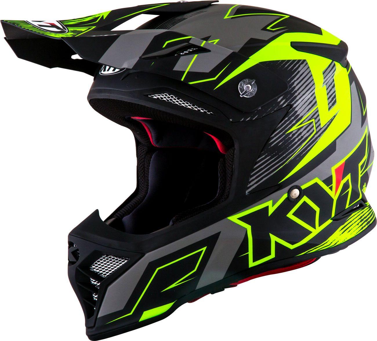 Photo of KYT Skyhawk Digger, Mattschwarzer / Neongelber Crossover-Helm