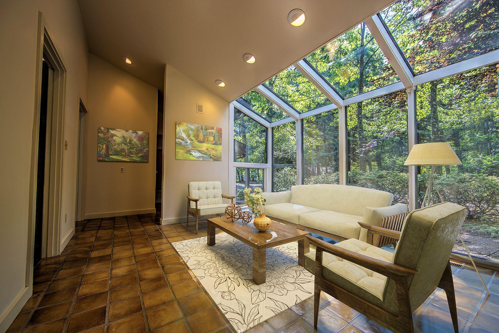 Rustic - Contemporary Sunroom