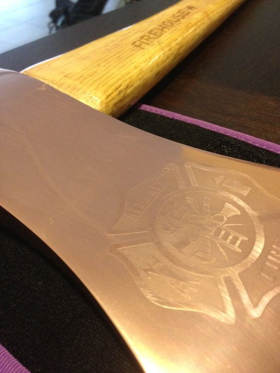 Retirement fire man axe, engraved axe, plated axe for gifts