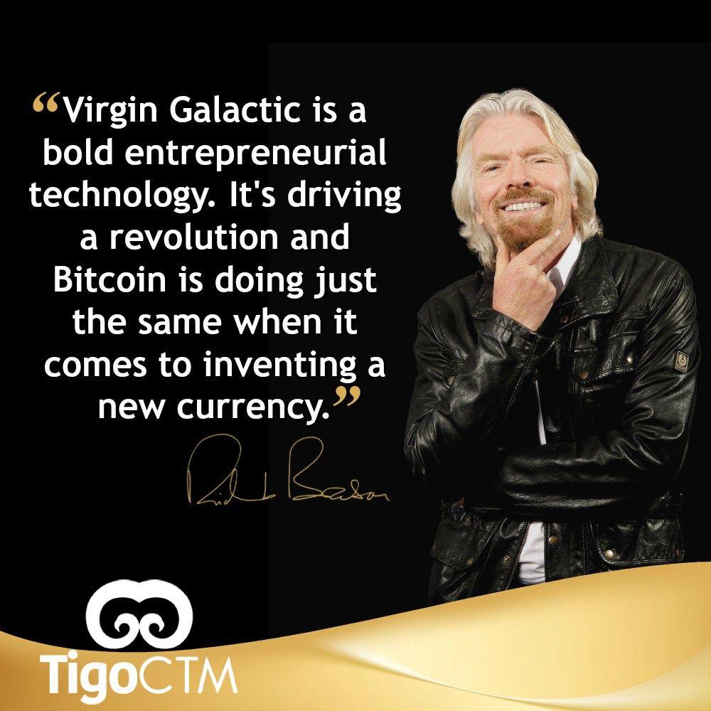 Sir Richard Branson Bitcoin Quote Tigo