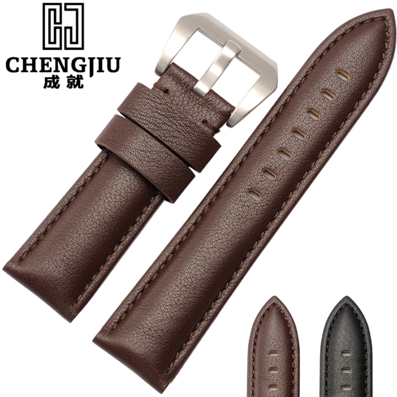 26.99$  Watch here - http://alizlh.shopchina.info/1/go.php?t=32805110171 - Men's Genuine Leather Watch Strap For Panerai Calfskin Leather Watchstrap For PAM111 Male Watchband Montre Pulseras Masculino   #magazineonlinewebsite