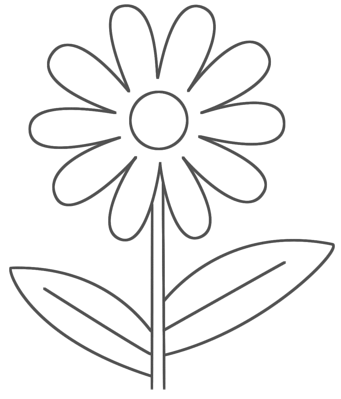 Download And Print Easy Printable Flower Coloring Pages Flower