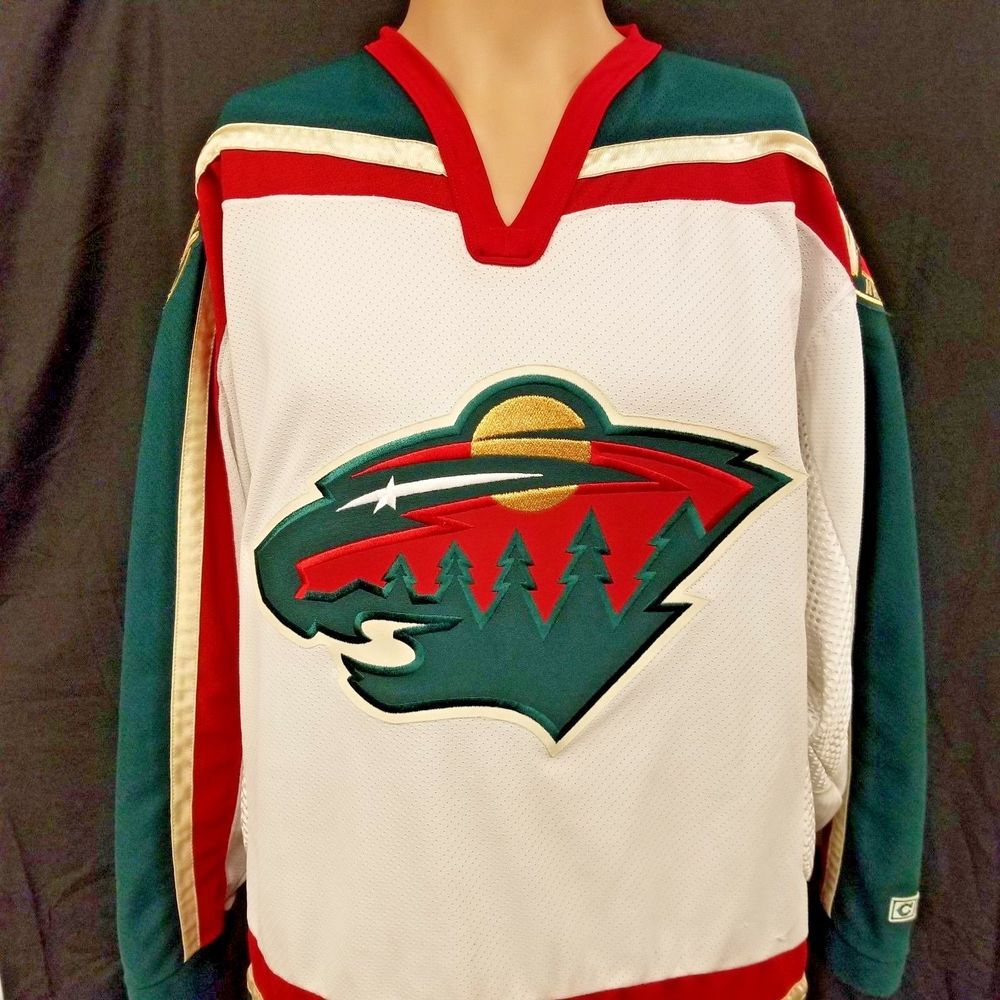 wholesale dealer ff93f 9da76 Vintage Minnesota Wild NHL Away White Jersey CCM Sewn Patch ...