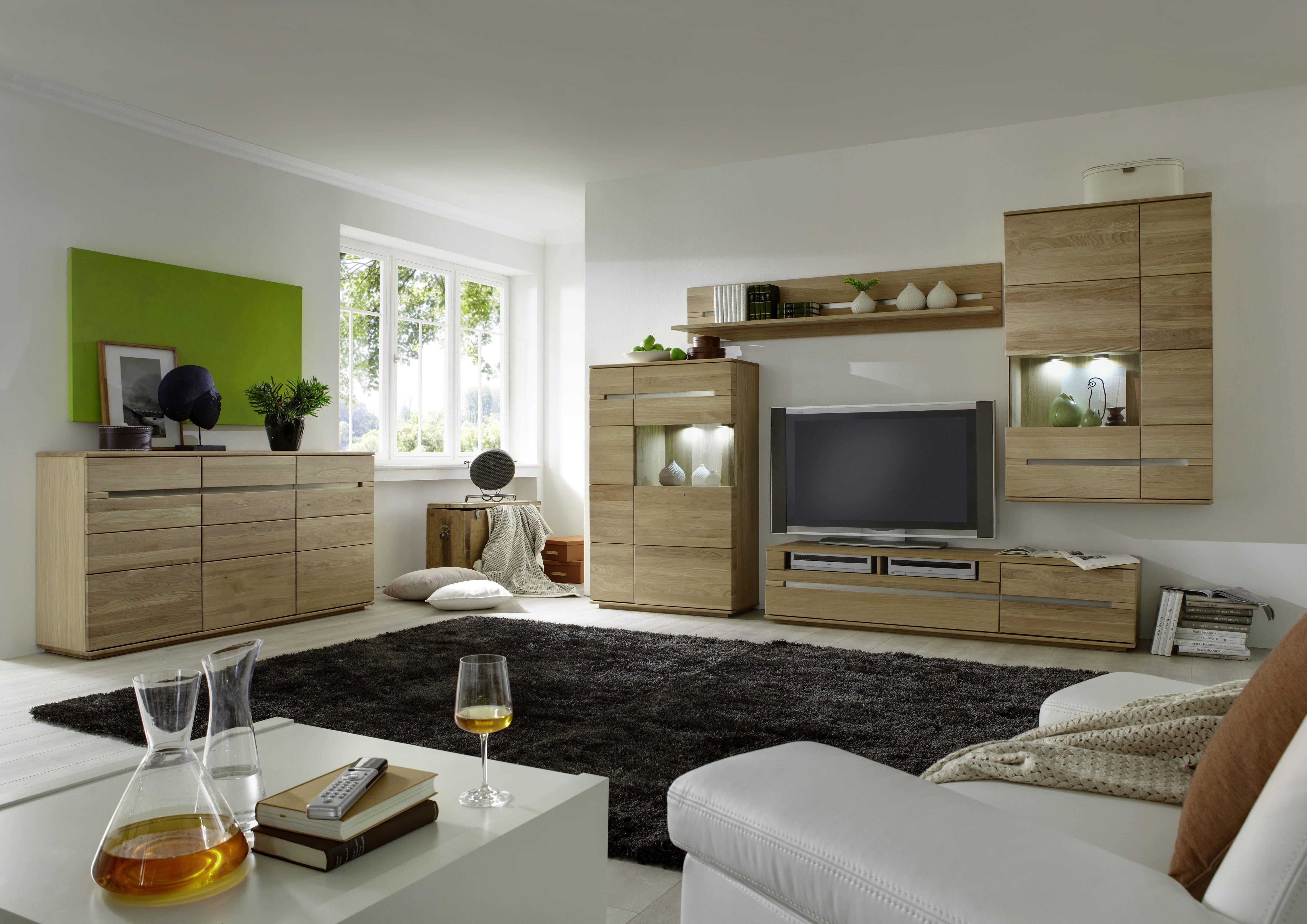 moderne wohnwande eiche, sehr moderne wohnwand in eiche bianco lamelle ist das neue highlight, Innenarchitektur