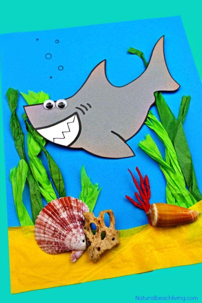 Shark Craft for Preschool and Kindergarten with Free Shark