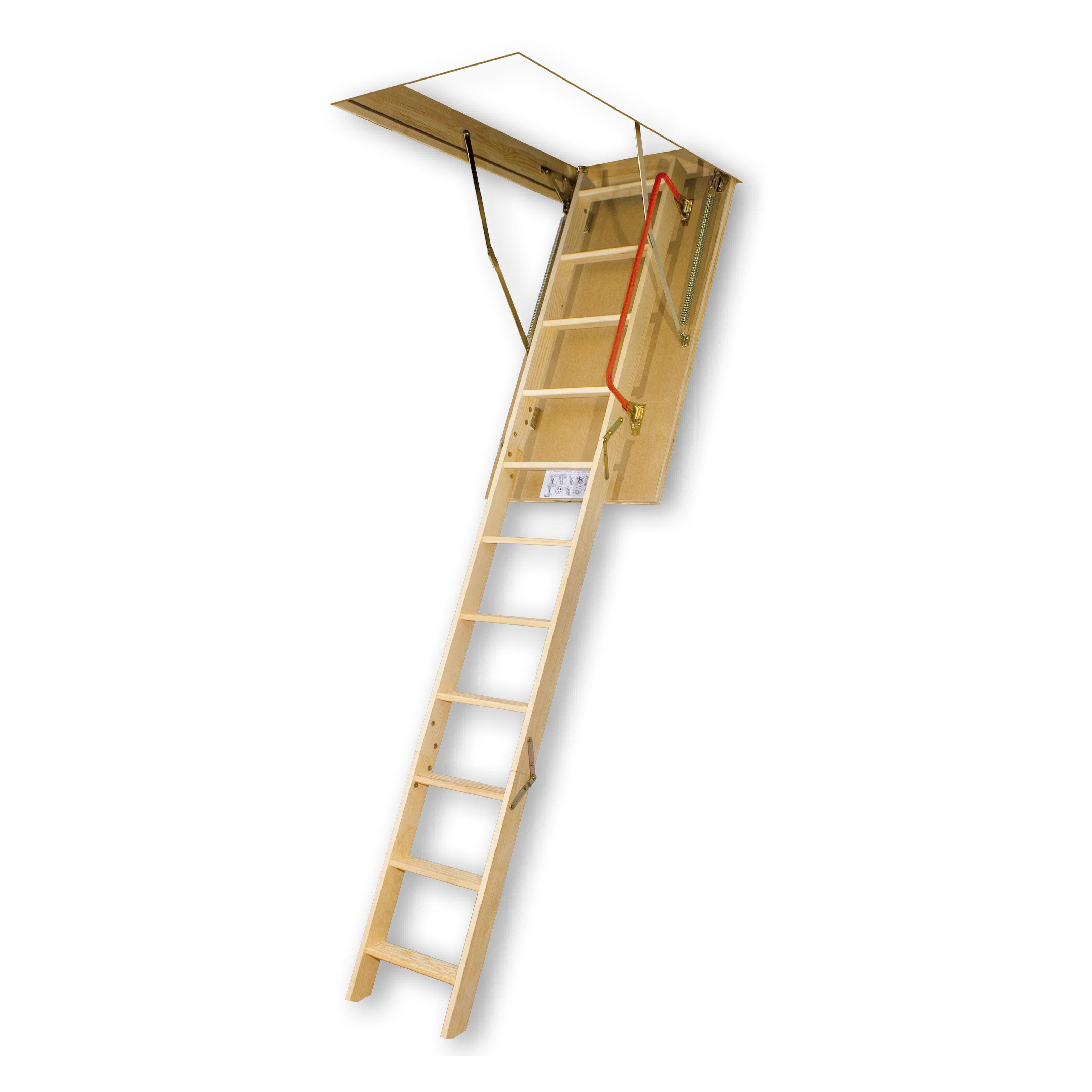 Fakro 10 9 Ft Insulated Wooden Attic Ladder 66853 Attic Ladder Attic Staircase Attic Stairs