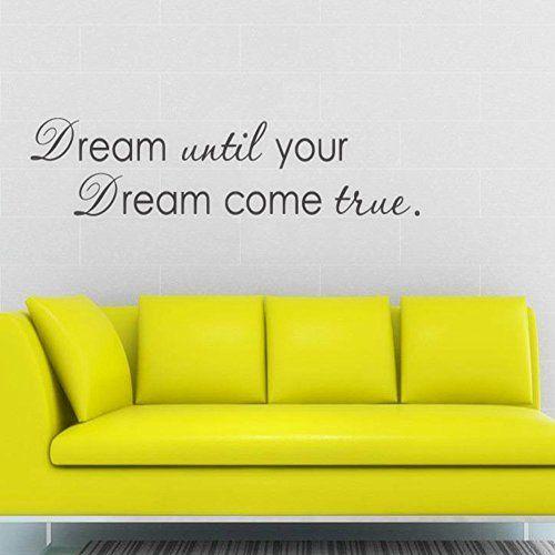 $12.99 - English Dream until Wall Decals PVC Wall Stickers Wall Art ...