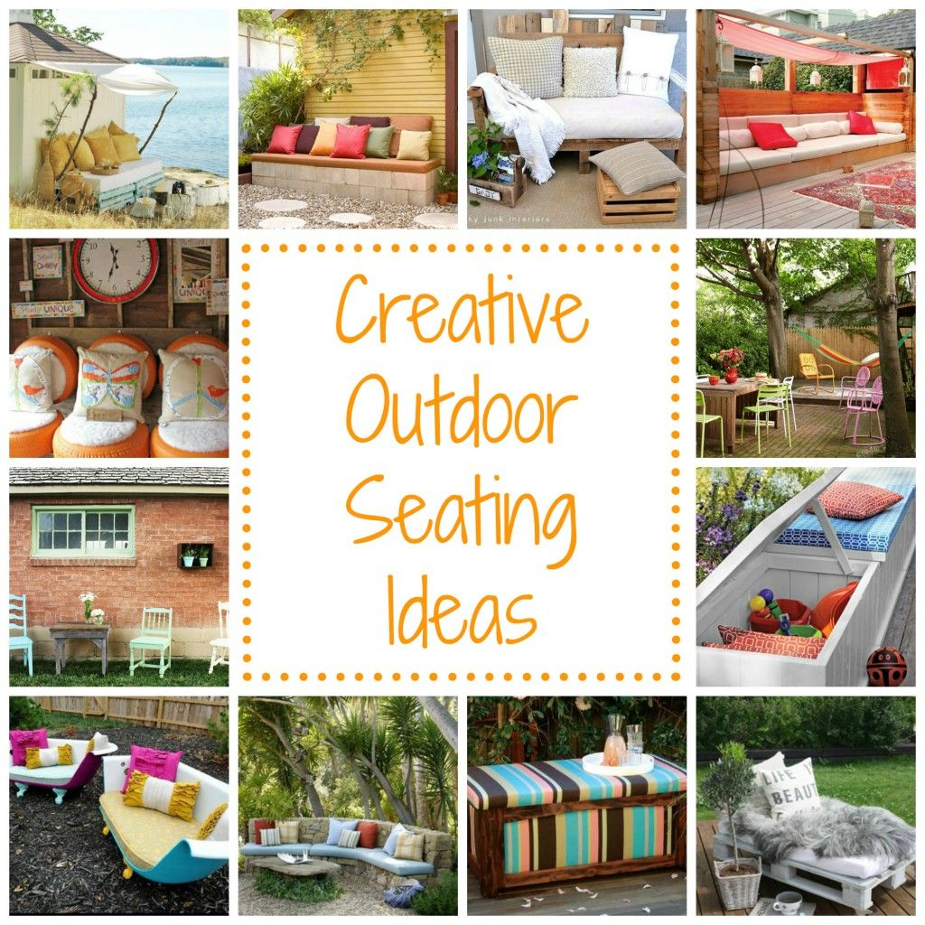 12 creative outdoor seating ideas creative spaces for Cheap garden seating ideas