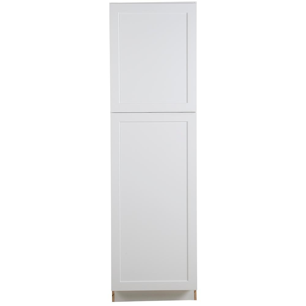 Hampton Bay Cambridge Shaker Assembled 84x24x24 5 In Pantry Cabinet With Adjustable Shelves And 2 S In 2020 Kitchen Pantry Cabinets Pantry Cabinet Adjustable Shelving