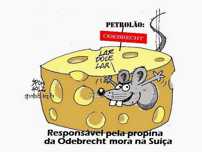Resultado de imagem para odebrecht + suiça charges