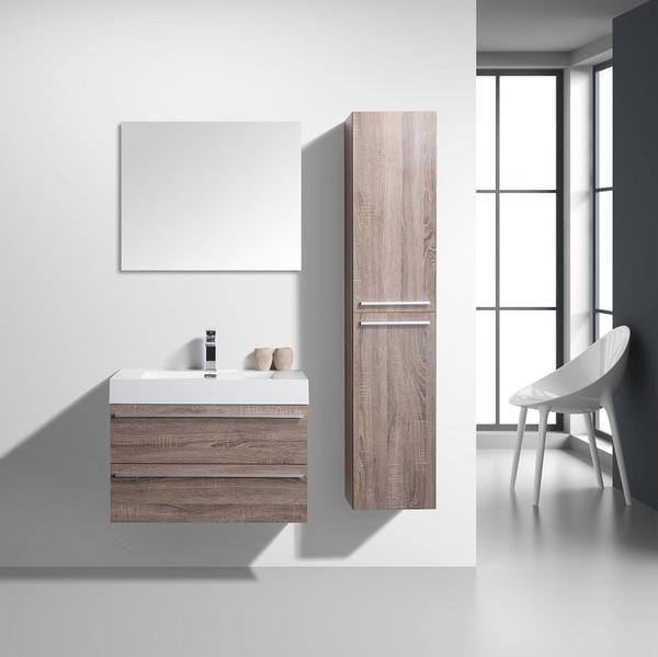 Light Oak Modern Wall Mount Bathroom