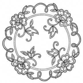 Bonnet Lass for Tea Towels Hot Iron Embroidery Transfers