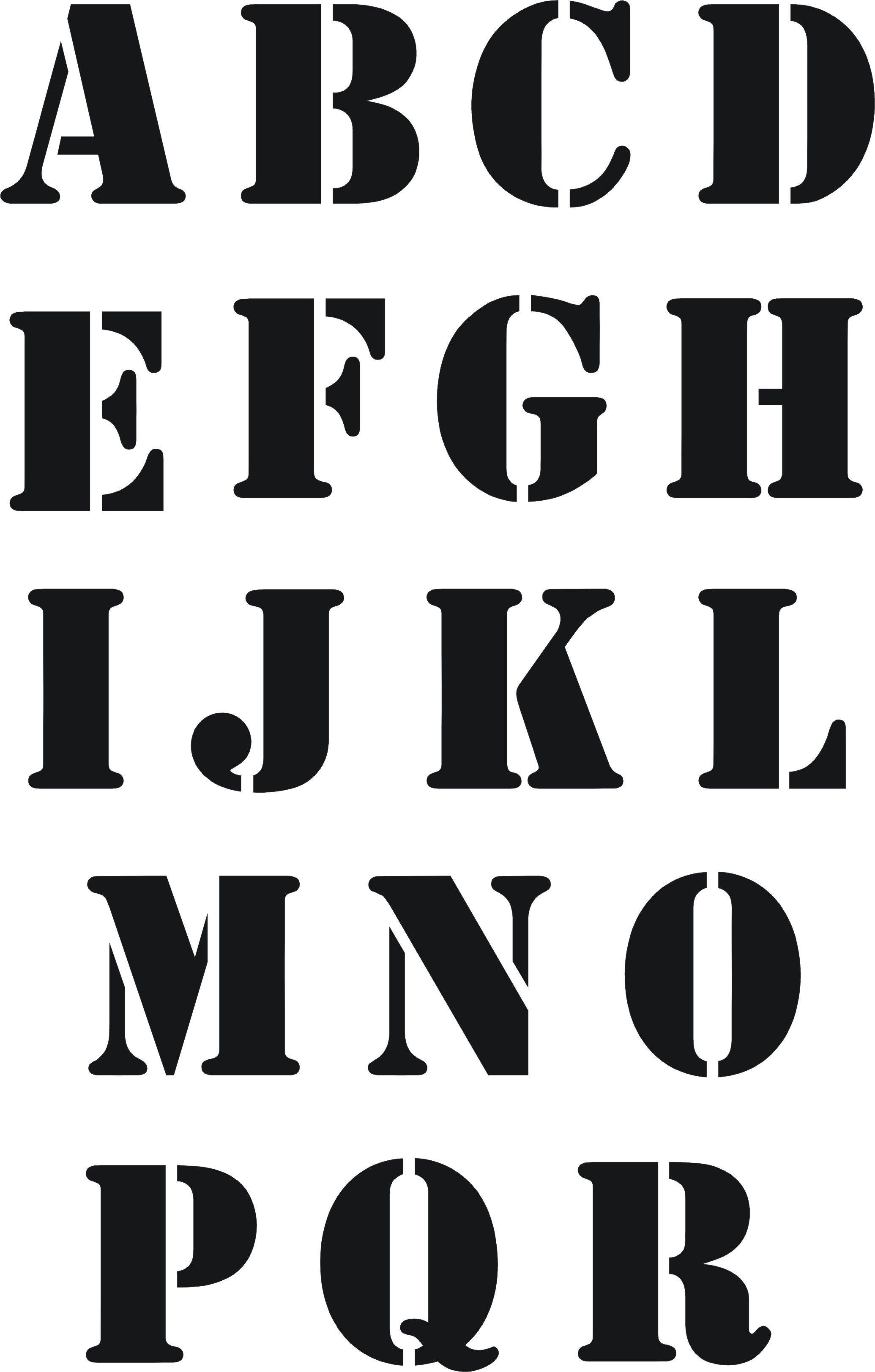 Eigenmarke Stencil Schablone ABC 2tlg.   LETTERS&CALLIGRAPH ...