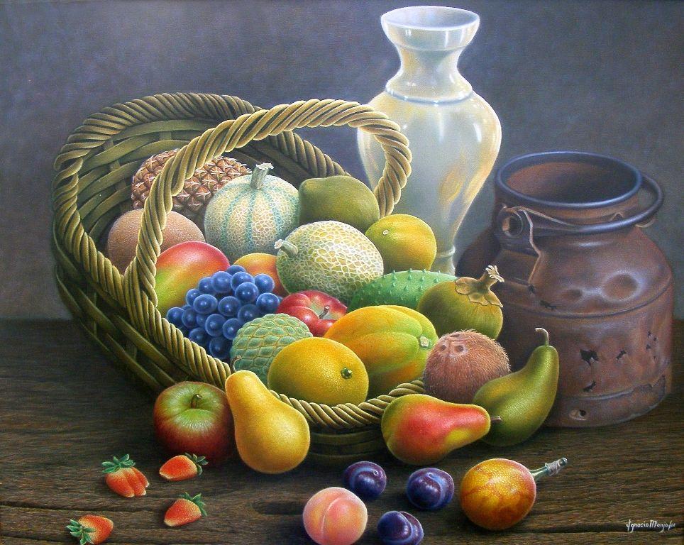 Las Libretas De Dibujo De 10 Artistas Colombianos: Bodegon+Canasto+frutas+colombianas%2C+Pintura+al+%C3%93leo