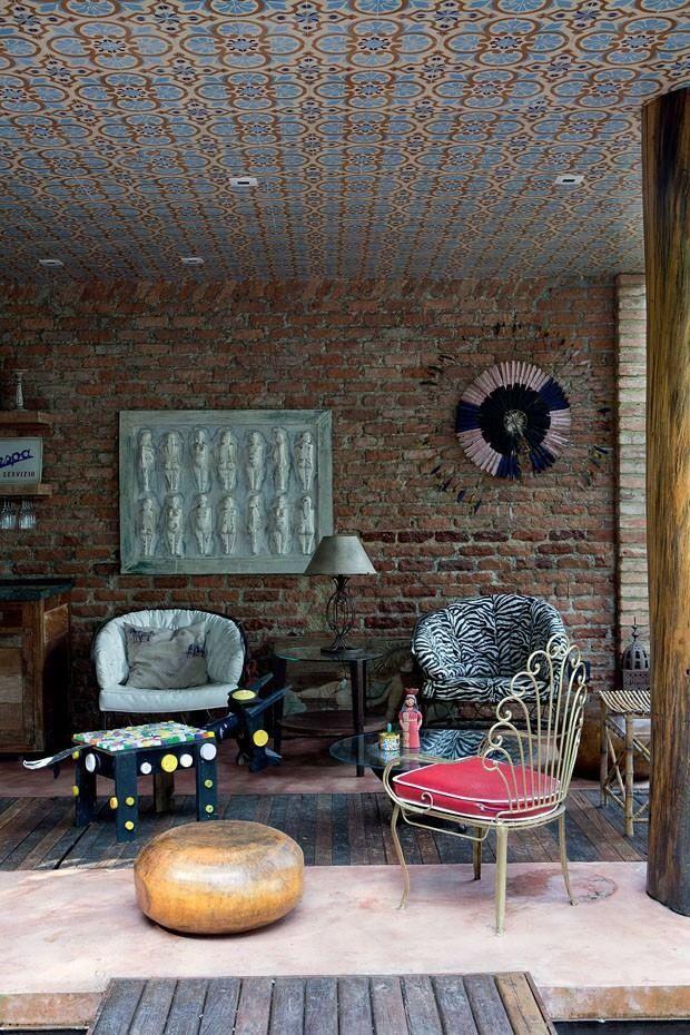 azulejo no teto - via Casa Vogue