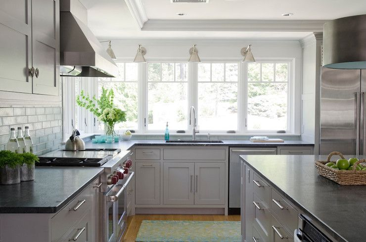 Best Contemporary Kitchen Boasts Light Gray Cabinets Paired 640 x 480