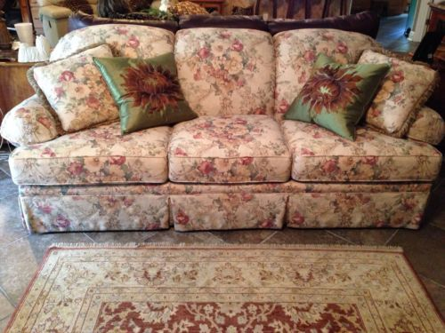 Clayton Marcus Sofa Couch Floral Vintage Style Floral Sofa