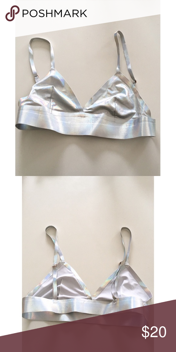 c50792063f Metallic Bralette Never been worn except to try on. Urban Outfitters  Intimates   Sleepwear Bras