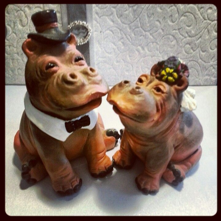 Most delightful cake toppers. Introducing Harold and Haritte.