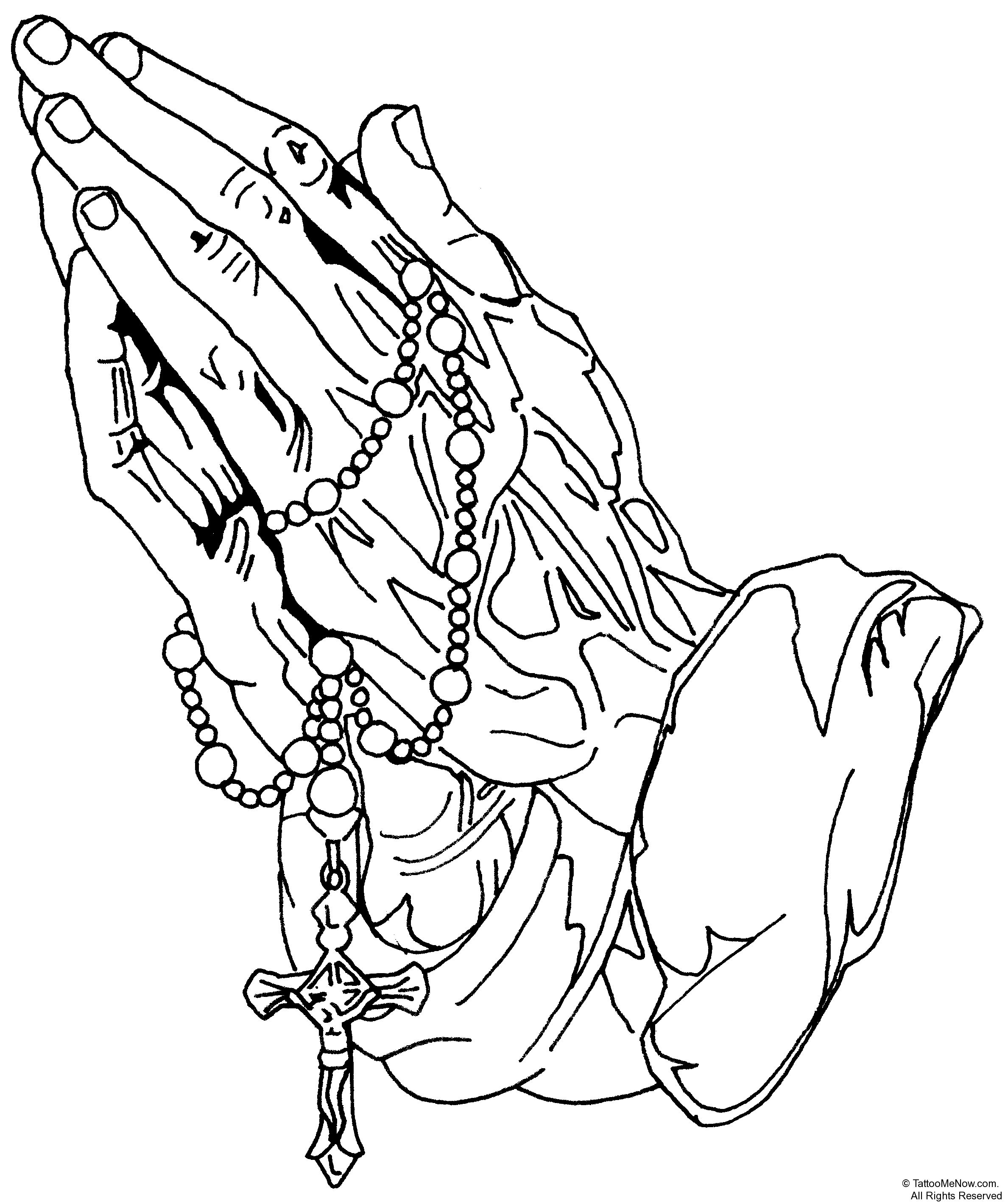 drawings of praying hands