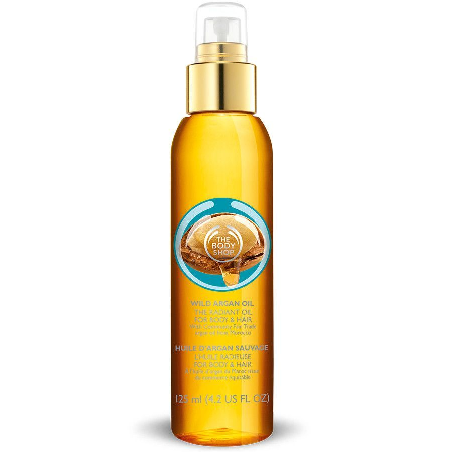 Body Shop Wild Argan Radiant Oil for Body and Hair feels like being granted a fourth wish. Moisturize your body and hair with a fragrant scent to add a luxurious glow to your day.