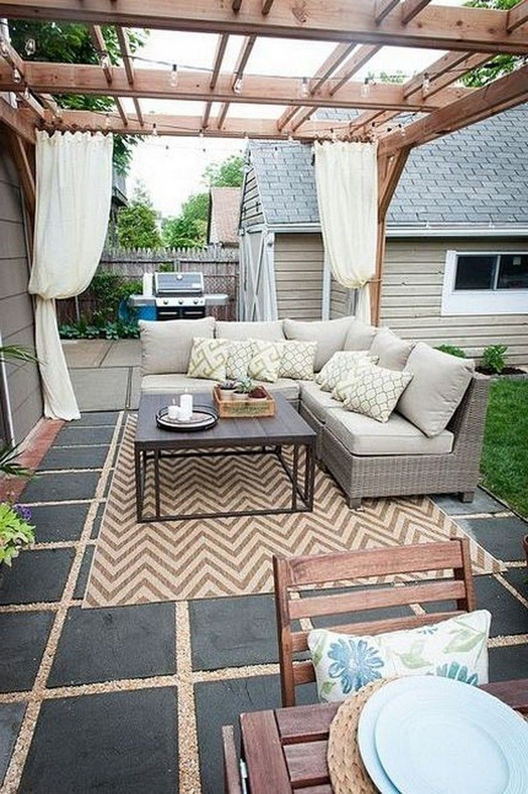 33 Comfy Backyard Patio Design Ideas Backyard Pergola Small