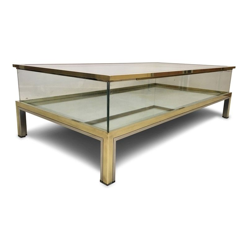1970s Brass And Chrome Sliding Top Coffee Table August Interiors Brass And Chrome Sliding Coffee Table 1 Coffee Table Sliding Coffee Table Coffee Table Vintage
