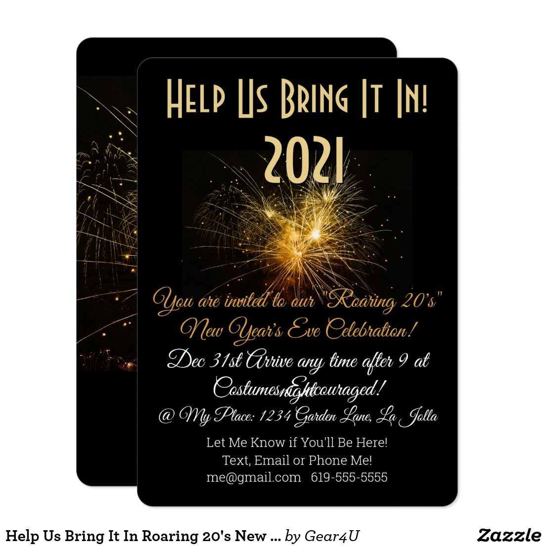 Help Us Bring It In Roaring 20 S New Year Invitation Zazzle Com New Years Eve Invitations Invitations New Year S Eve Celebrations