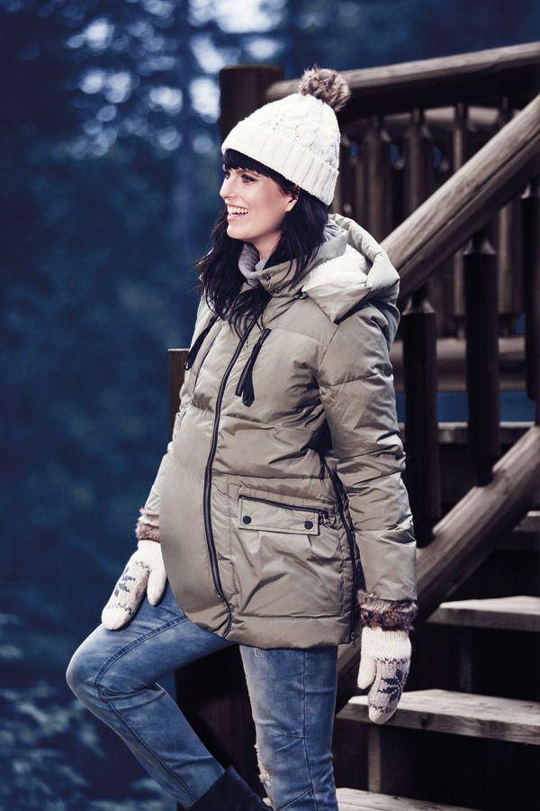 Thyme maternity black coat