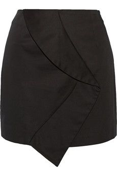 Opening Ceremony Flor Twist asymmetric cotton-blend mini skirt | THE OUTNET