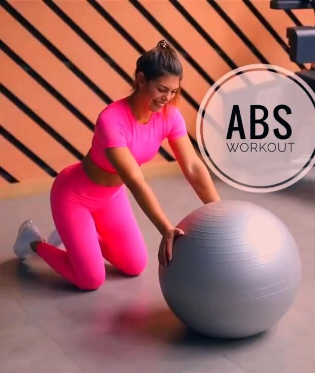 Ab exercise. Tone and tighten your abs with this stability ball workout. #absworkout #core #exercise...