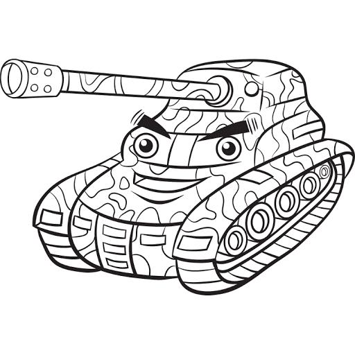 Mewarnai Gambar Mobil Tank Warna Gambar Tank