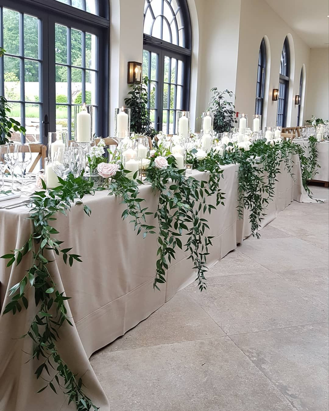 Wedding Events Floral Design On Instagram Top Table Venue The Fig House Middle Wedding Top Table Decorations Wedding Bridal Table Wedding Top Table