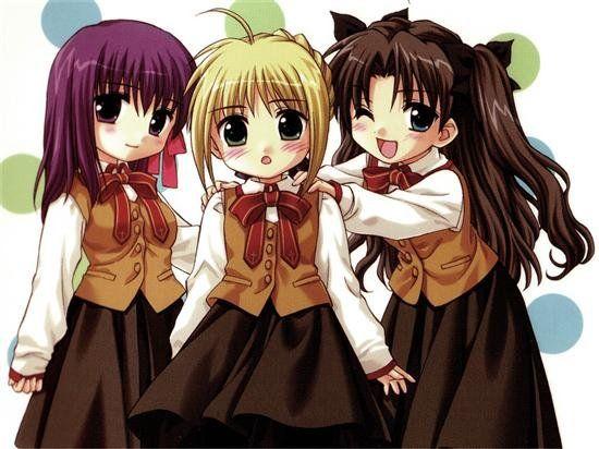 Three Bff Anime Anime Child Anime Chibi