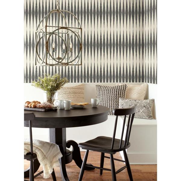 Magnolia Home By Joanna Gaines Handloom Black Paper Peelable Roll Covers 34 Sq Ft Psw1004rl The Home Depot Magnolia Homes Home Wallpaper Home