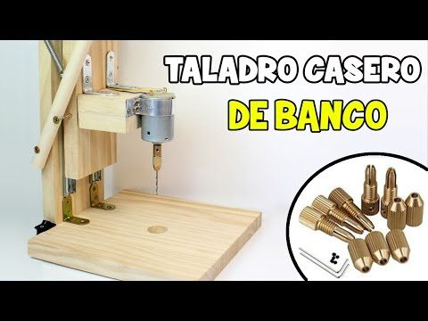 Cómo Hacer Un Taladro Casero De Banco Mini Taladro Casero Con Motor Youtube Dremel Router Diy