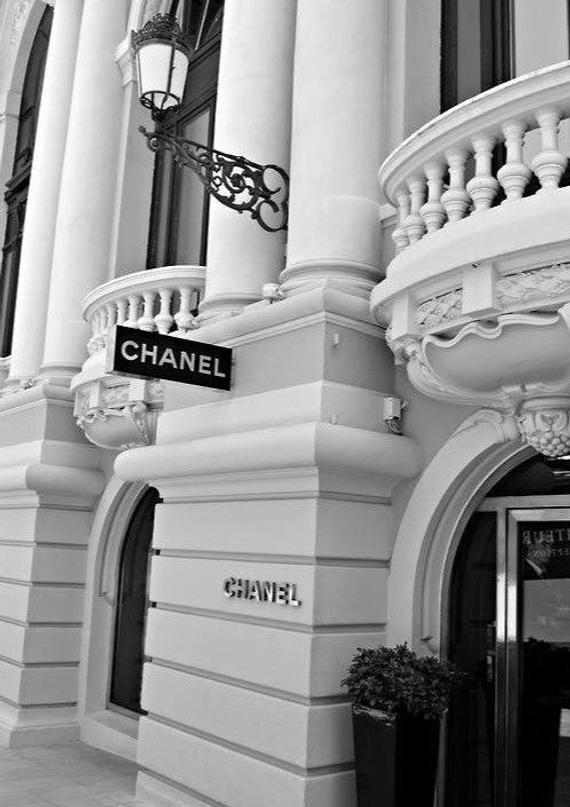 Photo of Chanel shop front art illustration photography black white designer home decor pretty chic classy