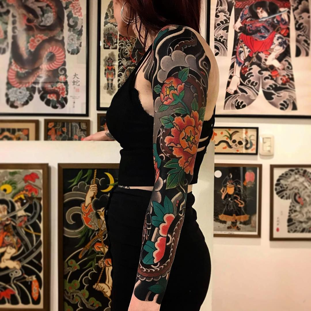 Ageless classic of Japanese traditional tattoo by Ian Det