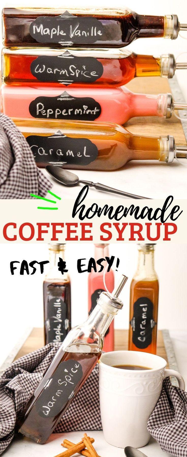 Coffee homemade recipe syrup four recipes for homemade