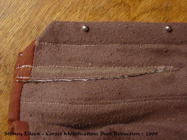 Corset Alteration - Reducing the Bust Size, by Sidney Eileen