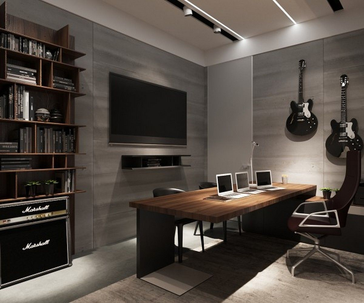 24 Luxury And Modern Home Office Designs: Luxury Modern Home Office (12)