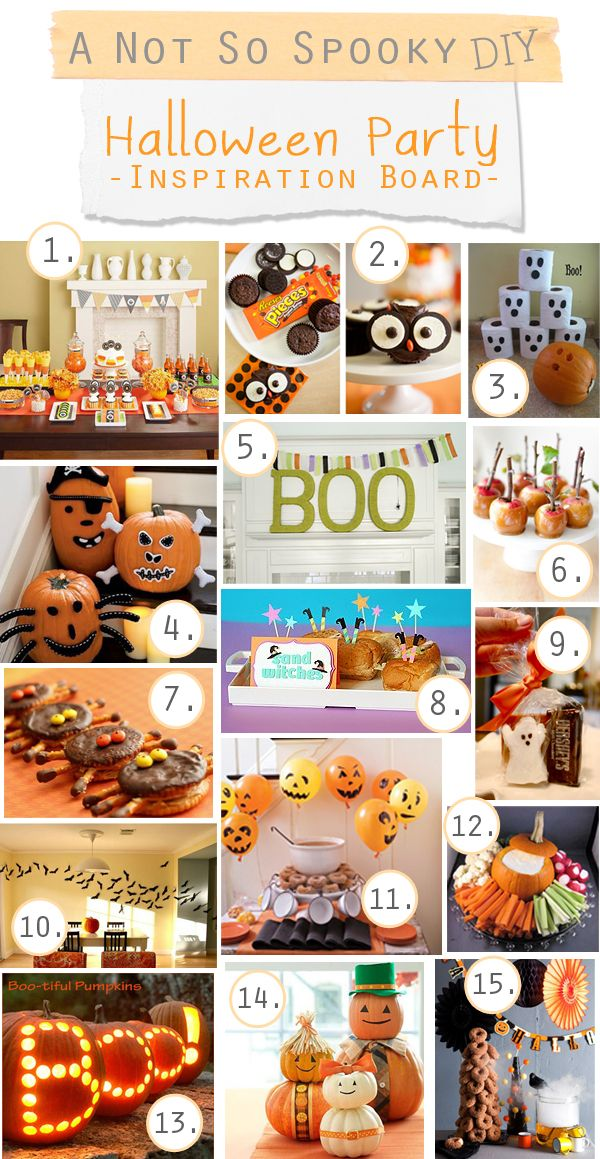 A Not So Spooky Halloween Party-Inspiration Board/DIY Ideas Spooky - not so scary halloween decorations